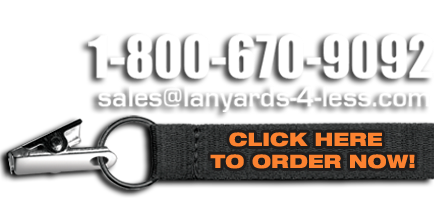 Custom Lanyard Display - Click Here to Order Custom Lanyards Now!
