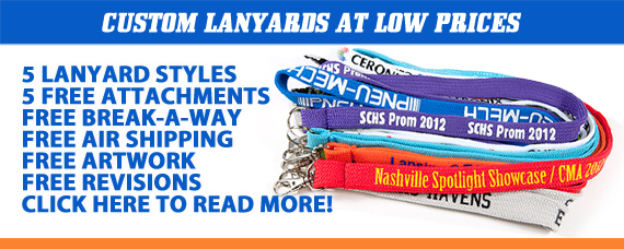 Custom Lanyards - Lowest Pricing - Great Features & Freebies!